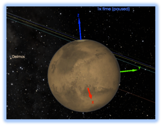 Body Axes turned on for Mars